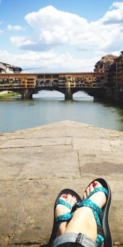 Sandals on the Arno River