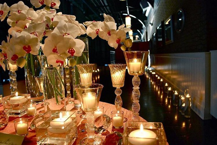 romantic tablescape for Valentine's