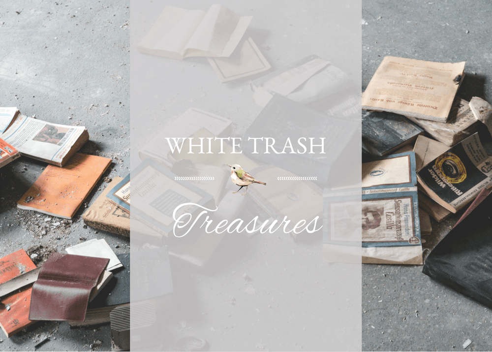 White Trash Treasure-Metal and Glass Table