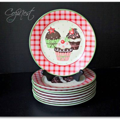 Birthday Cupcake Plates
