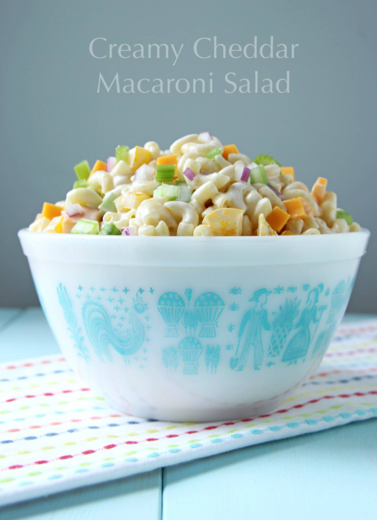 Summer Comfort Food Macaroni Salad