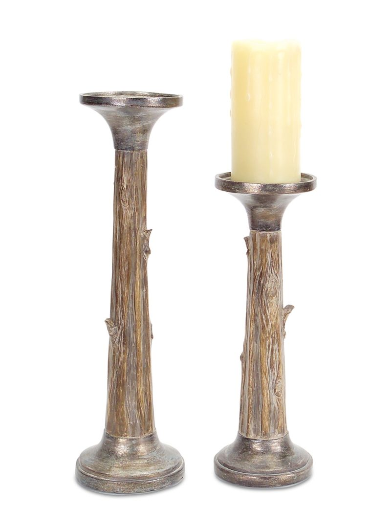 Tree Trunk Candle Holders
