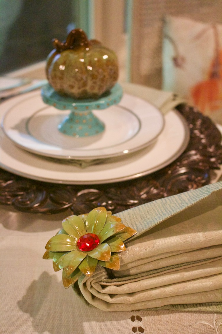 fall fine china placesetting