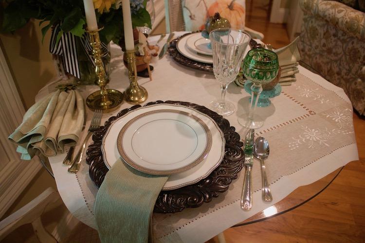 salad plate mismatched