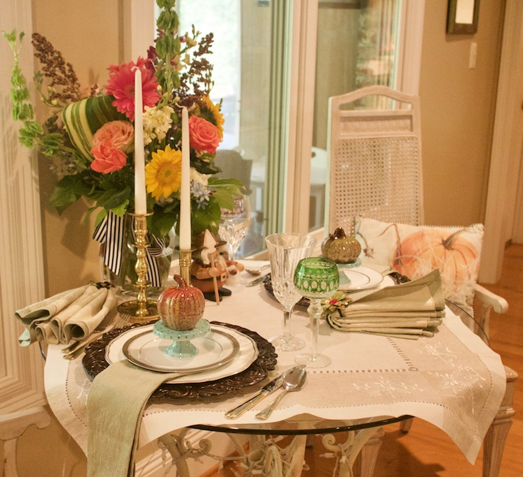 table for two with fine china