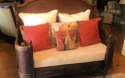 1 Velvet Covered Bench Transformed into an Exclusive Throne