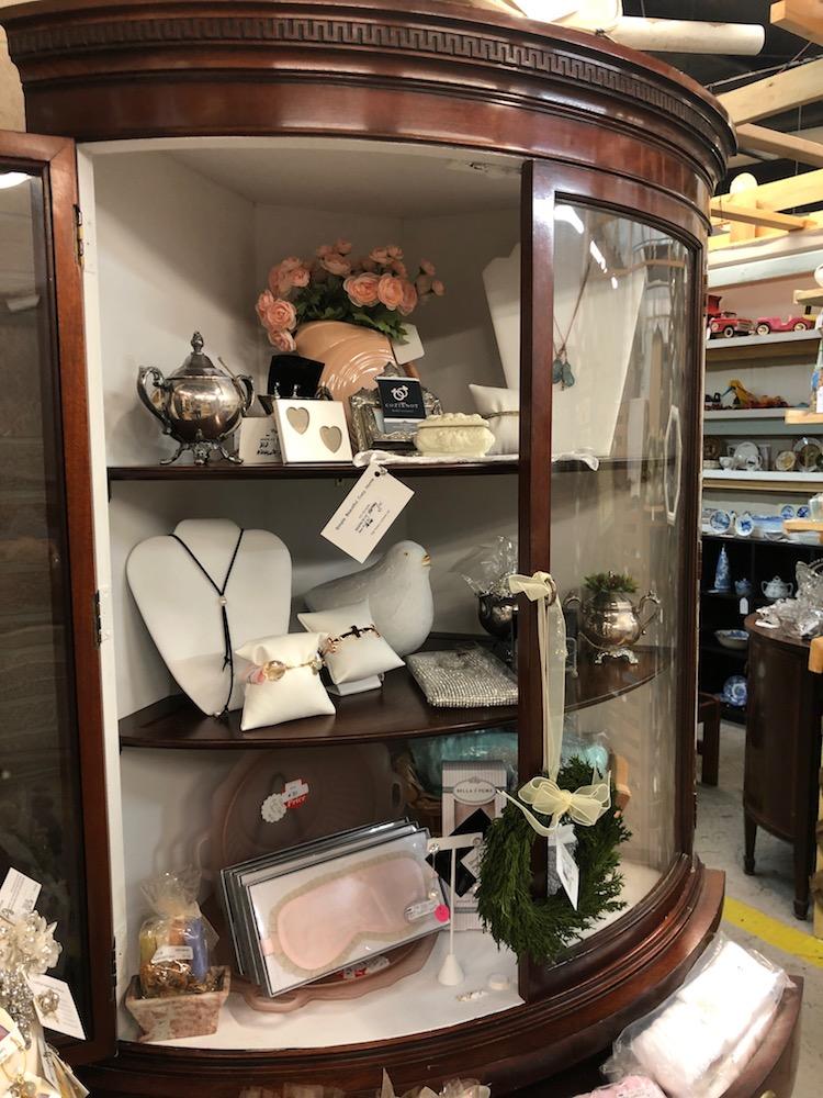 White Interior Corner Curio