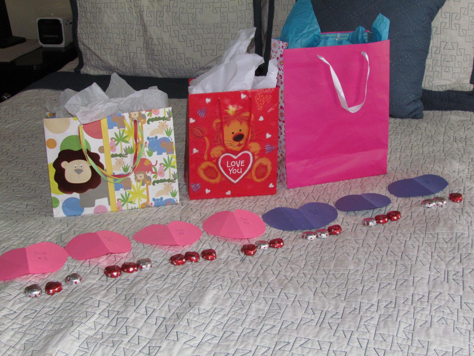Valentines Day Scavenger Hunt for kids