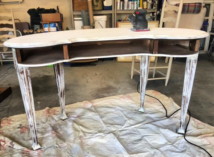 Backside of Desk