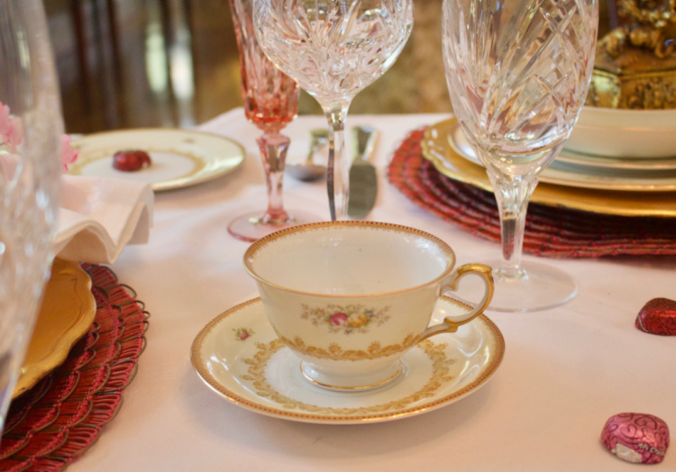 Heirloom China Tea Cup and Saucer