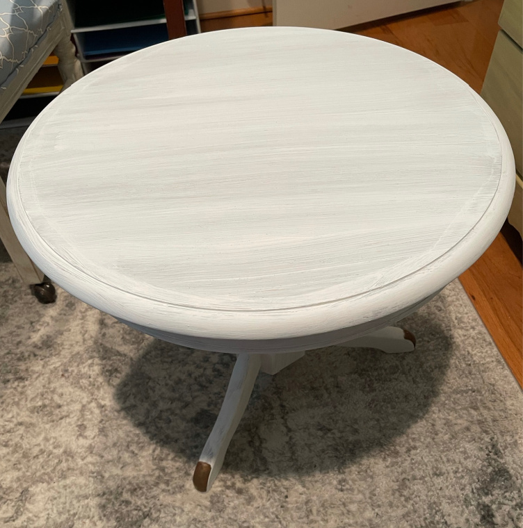 small round table one coat paint