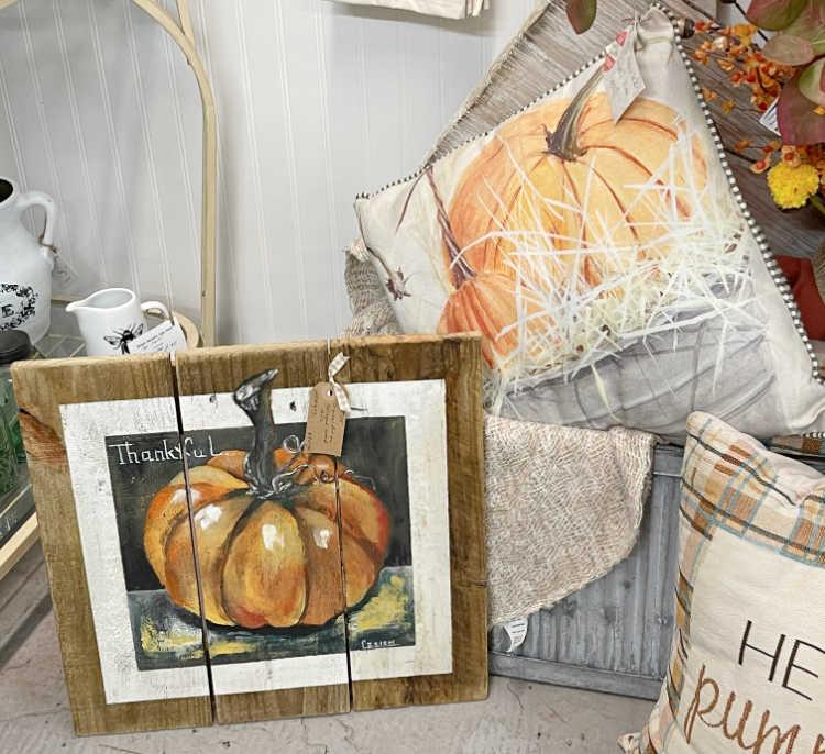 homemade pumpkin painting